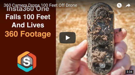 360 camera survives 100 foot fall from a drone