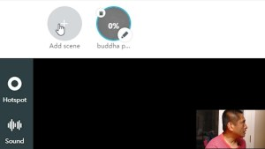 In the editing screen, add more scenes by clicking on this button