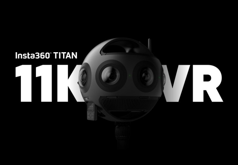 Insta360 Titan 11K 360 camera with 8 Micro Four Thirds sensors