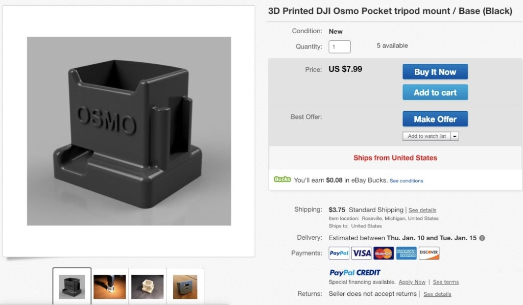 Another Osmo Pocket tripod adapter