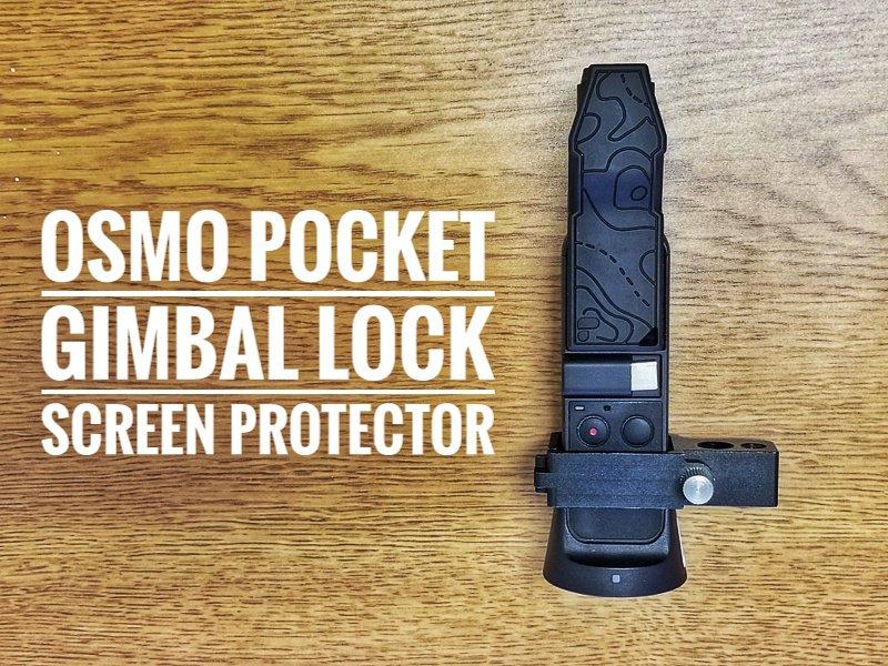 PolarPro Osmo Pocket Gimbal lock and screen protector