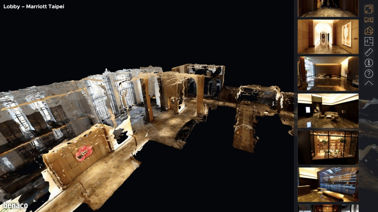 Convert 360 photos into 3D virtual tours with floor plan and dollhouse views