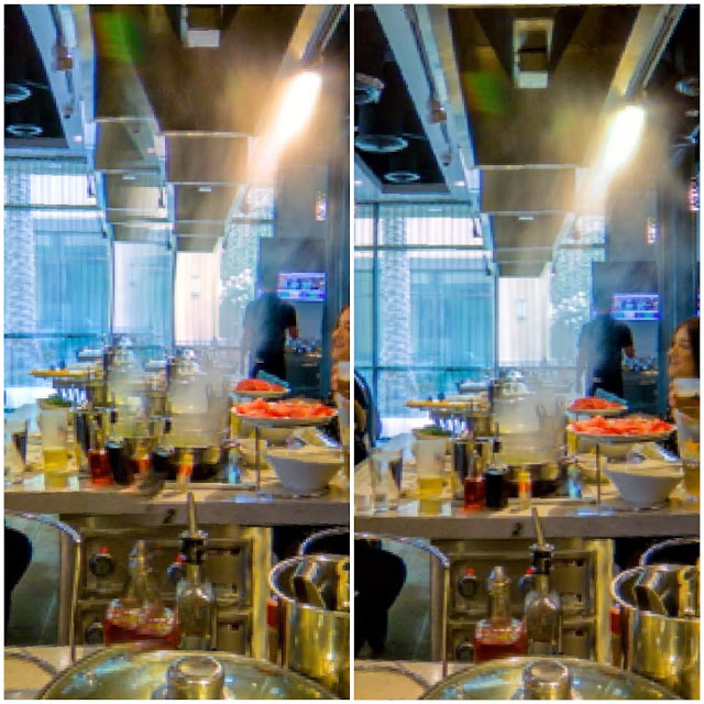 Before calibration (left) and after calibration (right)