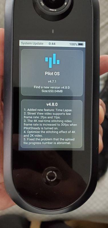 Pilot Era firmware 4.8 adds new features