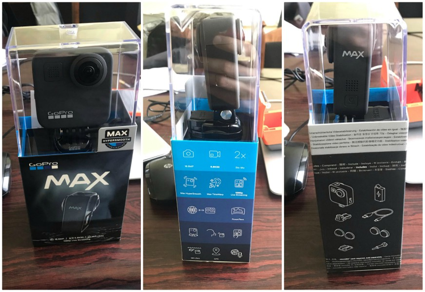 GoPro MAX packaging + what's in the box