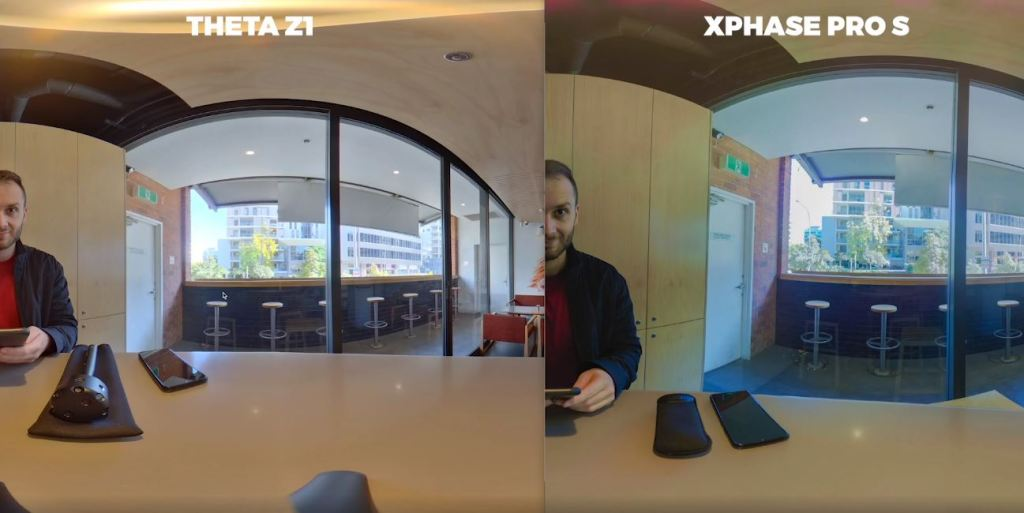 Theta Z1 (left) vs XPhase (right) - SOOC dynamic range