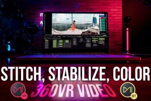 Mistika VR tutorial 360 video stitching stabilization and color grading