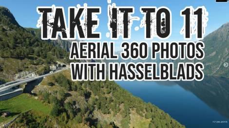 Aerial 360 photos with Hasselblad medium format cameras