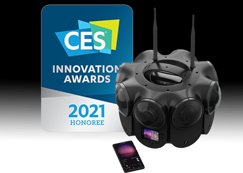 Kandao Obsidian Pro 12k 3D 360 camera with APS-C sensors