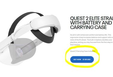 Oculus Quest 2 Elite Strap with Battery now available again