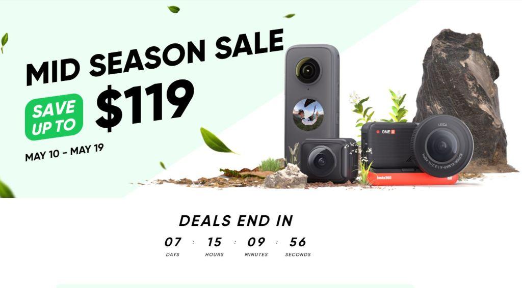 Insta360 Mid-Spring sale discounts!