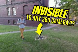 invisible drone for any 360 camera