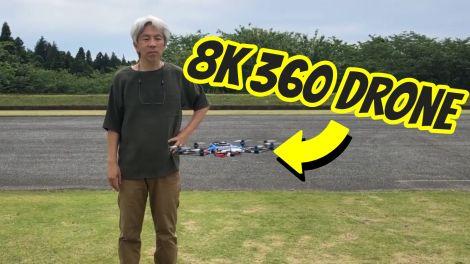 Adapa360 Hawk21 is an 8K 360 camera drone
