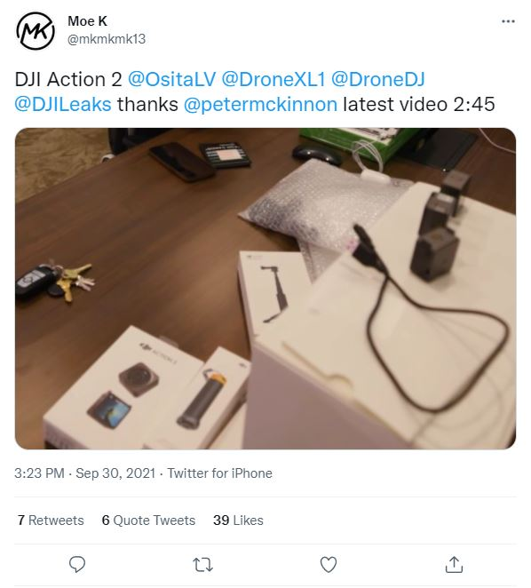 Real DJI Osmo Action 2 leaked in video