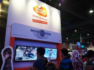Anime/gaming fans paid attention to this booth.