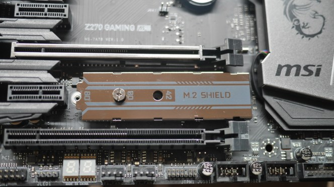 M.2 shield to protect and dissipate heat