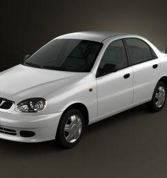 daewoo lanos 2012 3d model [ 1280 x 720 Pixel ]