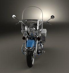 harley davidson flh electra glide shovelhead 1966 3d model [ 1280 x 720 Pixel ]