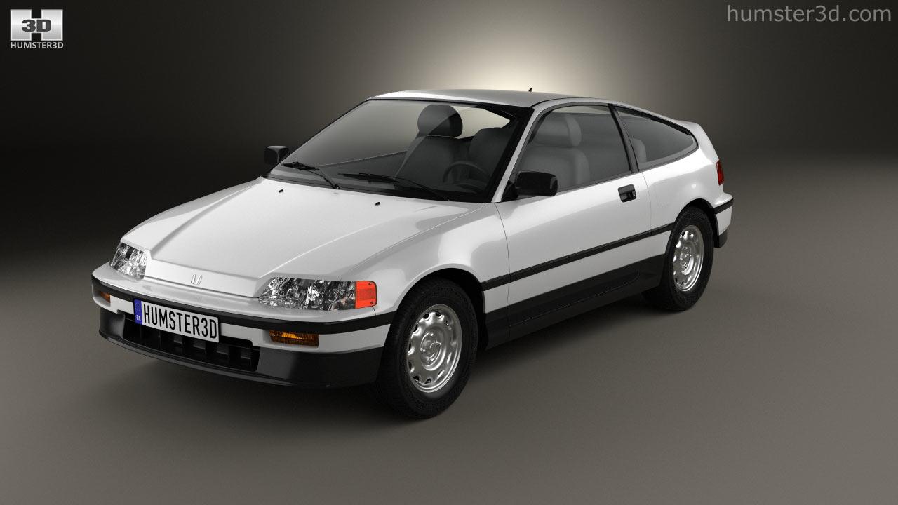 hight resolution of honda civic crx 1988 3d model