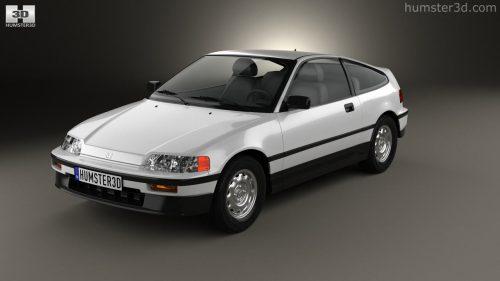 small resolution of honda civic crx 1988 3d model