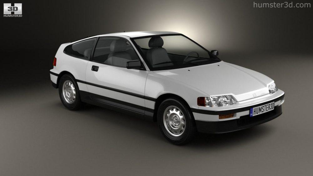 medium resolution of honda civic crx 1988 3d model