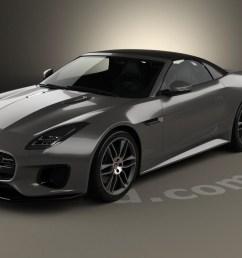 jaguar f type r dynamic convertible 2017 3d model [ 1280 x 720 Pixel ]