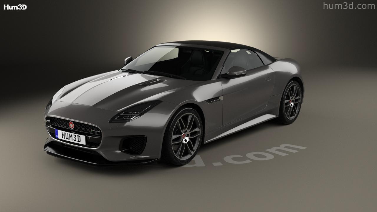 hight resolution of jaguar f type r dynamic convertible 2017 3d model