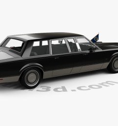 lincoln town car presidential limousine 1989 3d model [ 1280 x 720 Pixel ]