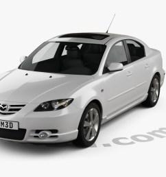 mazda 3 sedan s 2005 3d model [ 1280 x 720 Pixel ]