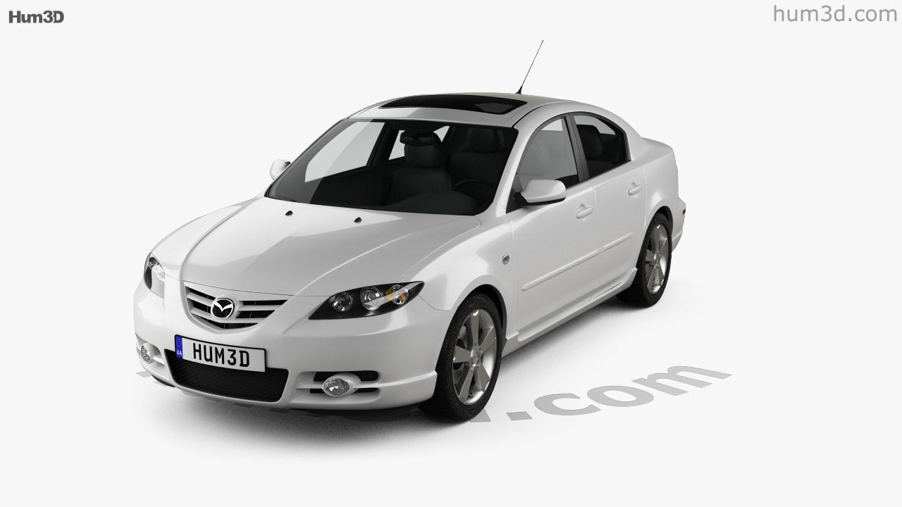 hight resolution of mazda 3 sedan s 2005 3d model