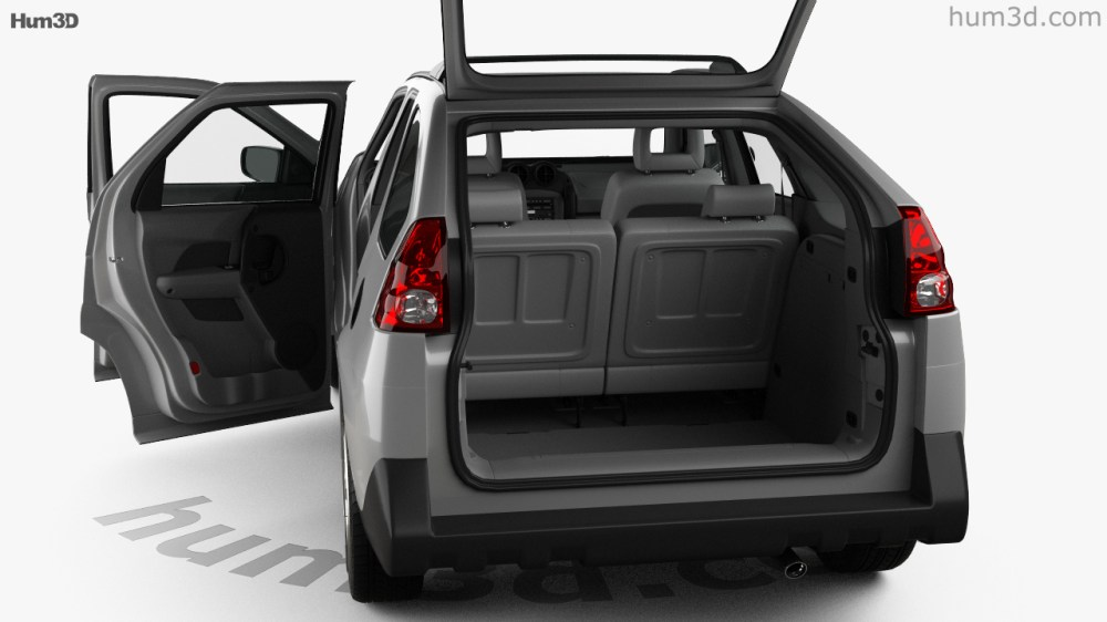 medium resolution of pontiac aztek with hq interior 2005 3d model