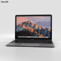 Apple Macbook 2017 Space Gray 3d Model - Electronics