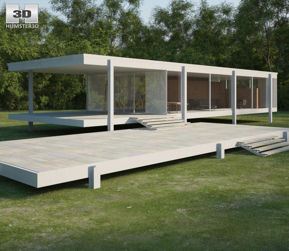 Farnsworth House 3D model  Architecture on Hum3D