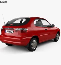 daewoo lanos 3 door 1997 3d model [ 1000 x 870 Pixel ]