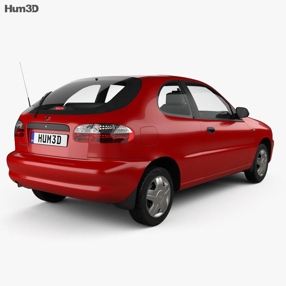 medium resolution of  daewoo lanos 3 door 1997 3d model