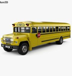 ford b 700 thomas conventional school bus 1984 3d model vehicles on hum3d [ 1000 x 870 Pixel ]
