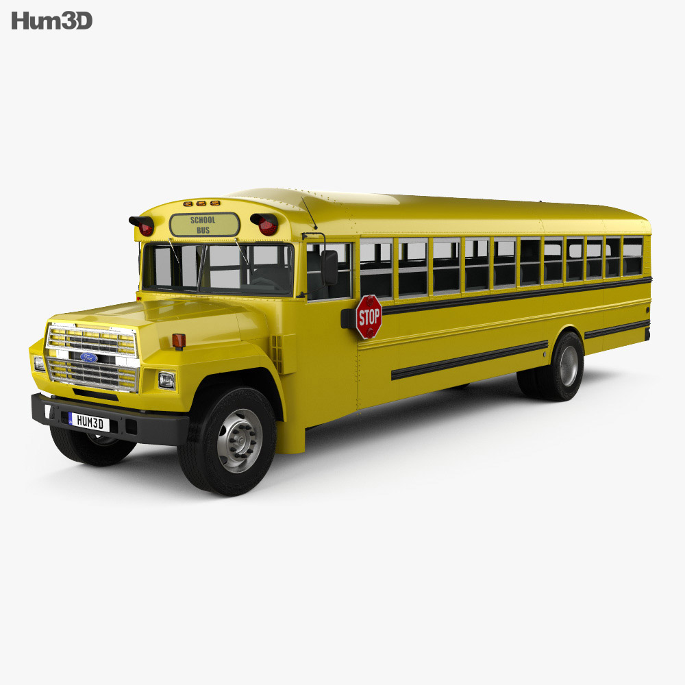 hight resolution of ford b 700 thomas conventional school bus 1984 3d model vehicles on hum3d