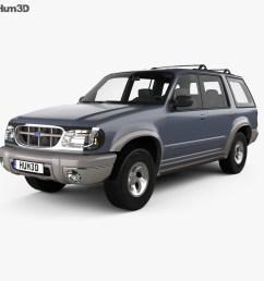 ford explorer 1994 3d model [ 1000 x 870 Pixel ]
