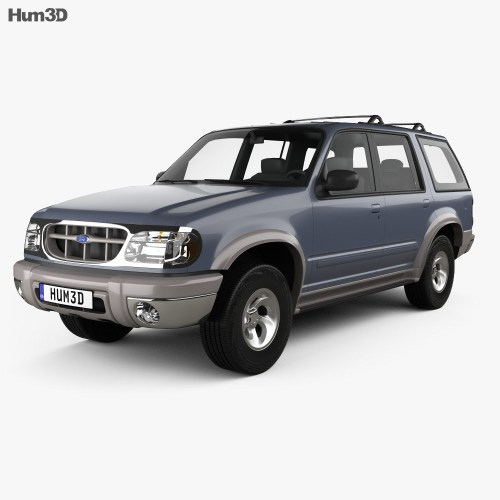 small resolution of ford explorer 1994 3d model