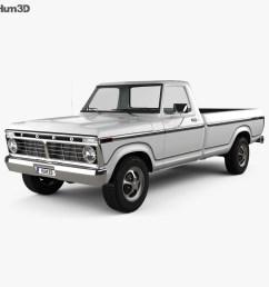 ford f 150 1973 3d model [ 1000 x 870 Pixel ]