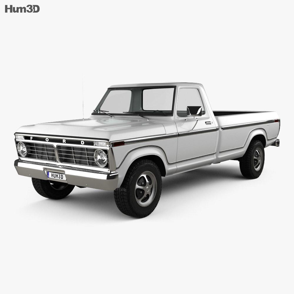medium resolution of ford f 150 1973 3d model