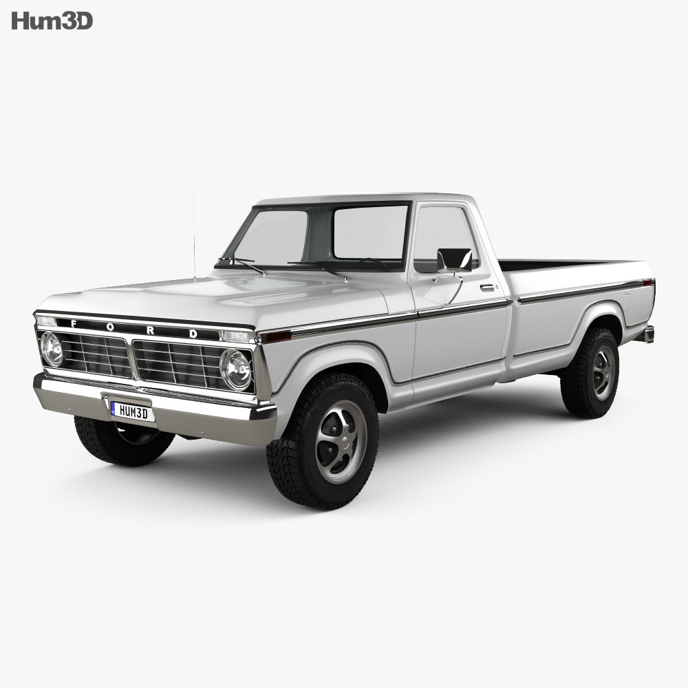 hight resolution of ford f 150 1973 3d model