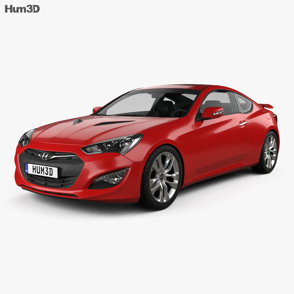 hight resolution of hyundai genesis coupe with hq interior 2014 3d model