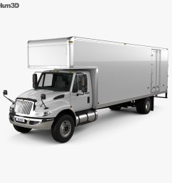 international durastar 4700 box truck 2010 3d model [ 1000 x 870 Pixel ]