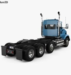 kenworth t800 chassis truck 4 axle 2005 3d model [ 1000 x 870 Pixel ]