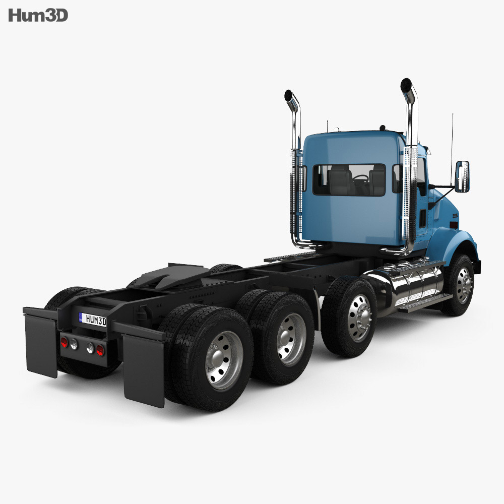 medium resolution of  kenworth t800 chassis truck 4 axle 2005 3d model
