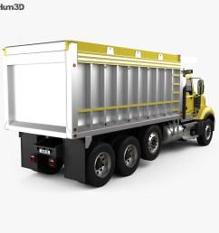 mack granite dump truck 2009 3d model [ 1000 x 870 Pixel ]