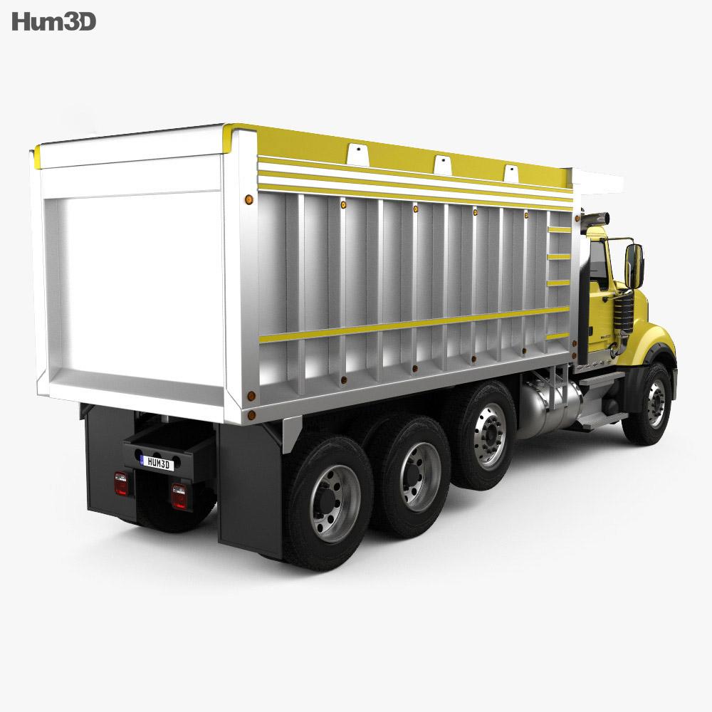 hight resolution of  mack granite dump truck 2009 3d model