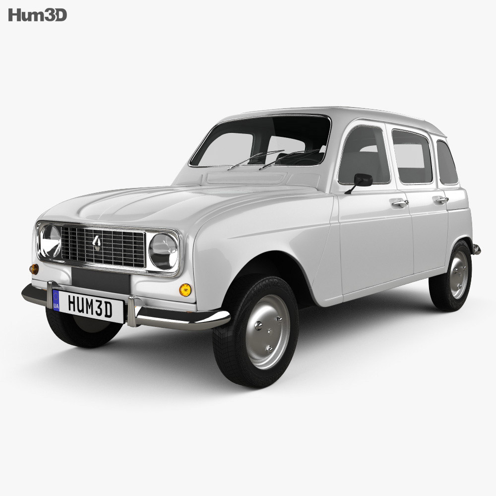 medium resolution of renault 4 r4 hatchback 1974 3d model