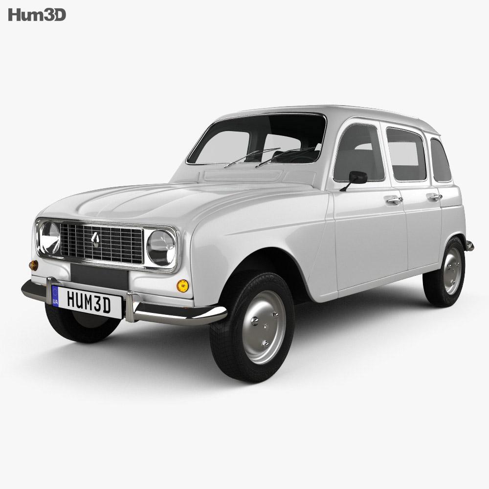 hight resolution of renault 4 r4 hatchback 1974 3d model